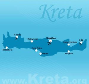 Kreta Karte - Landkarte