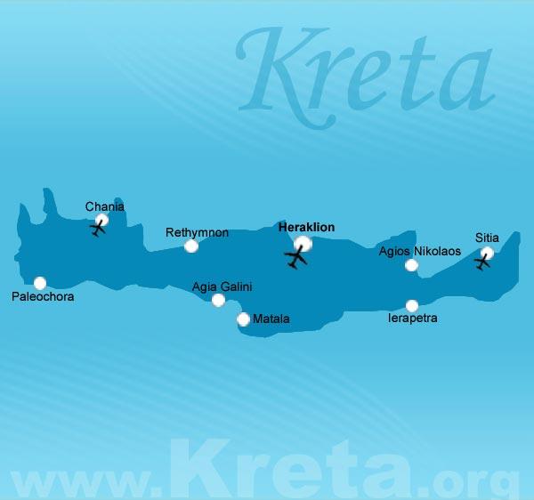 Karte Kreta Urlaub