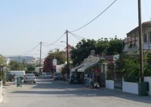 Leere Straße auf Kreta